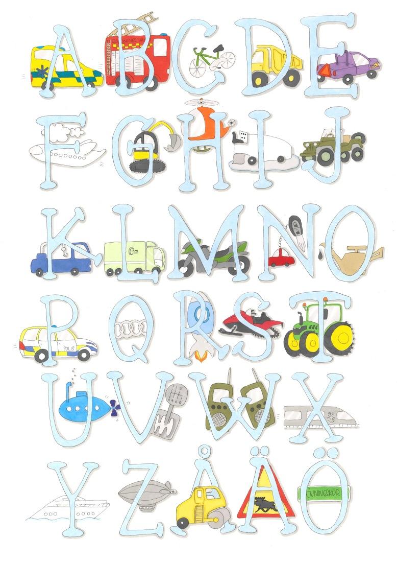 Det blå alfabetet/fordonsalfabetet
